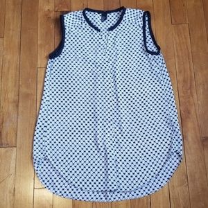 H&M black and white sleeveless tunic